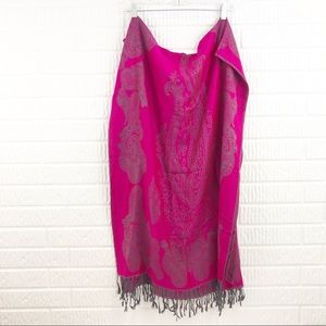 CASHMERE magenta wrap scarf pashmena